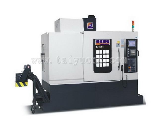 台钰精机三轴线轨850CNC立式加工中心机产品特点: 1.LV系列机台,除了具有良好主轴的功能外更为机台高速化高效能上,注入优异的ATC换刀速度与快速位移速度。 2.专为大量生产汽车零件加工、电子消费产品零件加工,生产效益大是生产事业最佳选择。 3.三轴采用台湾银泰或德国力士乐高精度滚珠螺杆,经中周波热处理及精度研磨,各轴施以预拉减小变形,重复定位精度高。 4.